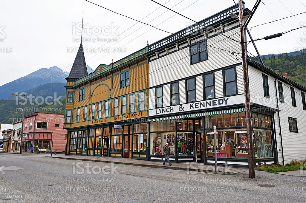 Skagway Store Fronts royalty-free stock photo