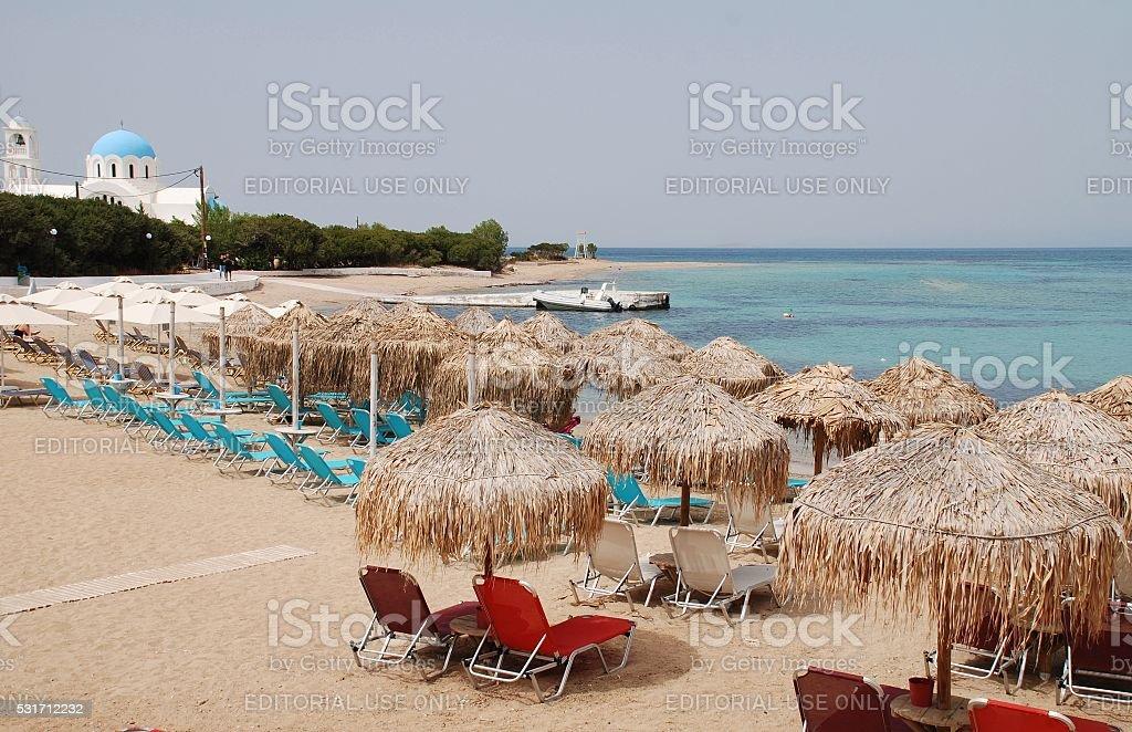 Skala beach, Agistri stock photo