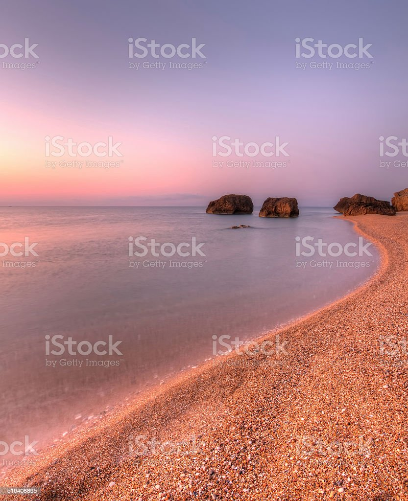 Skala Beach, Kefalonia, Greece. stock photo
