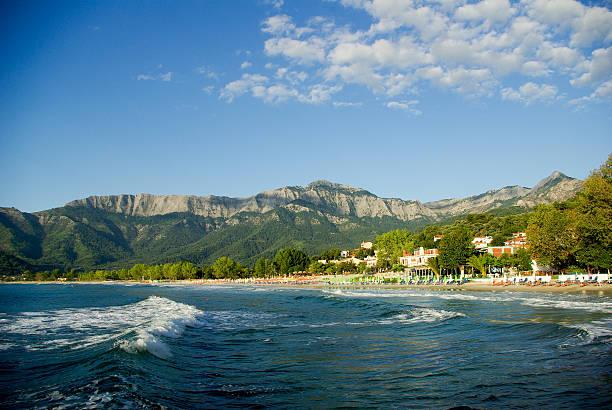 Skala Panagia, Golden beach, Thassos, Griechenland. – Foto
