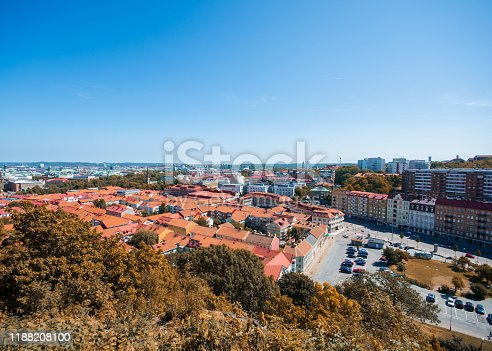 istock Skansen kronan surrounded with colorful leaves 1188208100