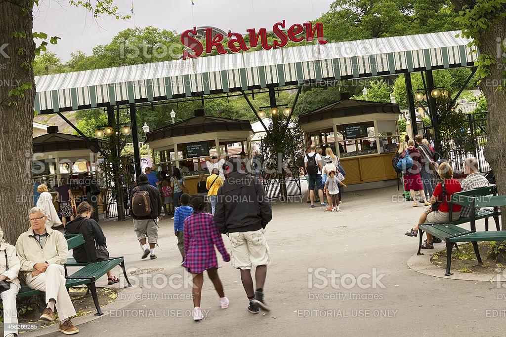 Skansen, Stockholm stock photo