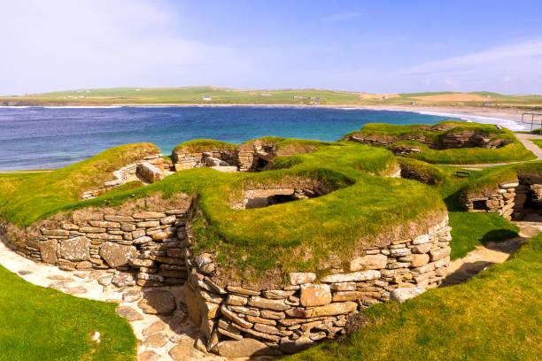 Skara Brae at Orkney Islands, Scotland / UK stock photo