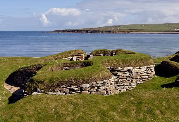 Skara Brae auf die Bucht von Skaill – Foto