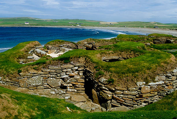 Skara Brae stock photo