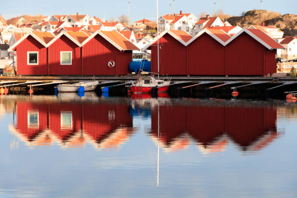 Skarhamn village, Sweden stock photo