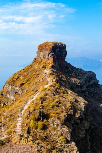 Skaros Rock in Santorini stock photo