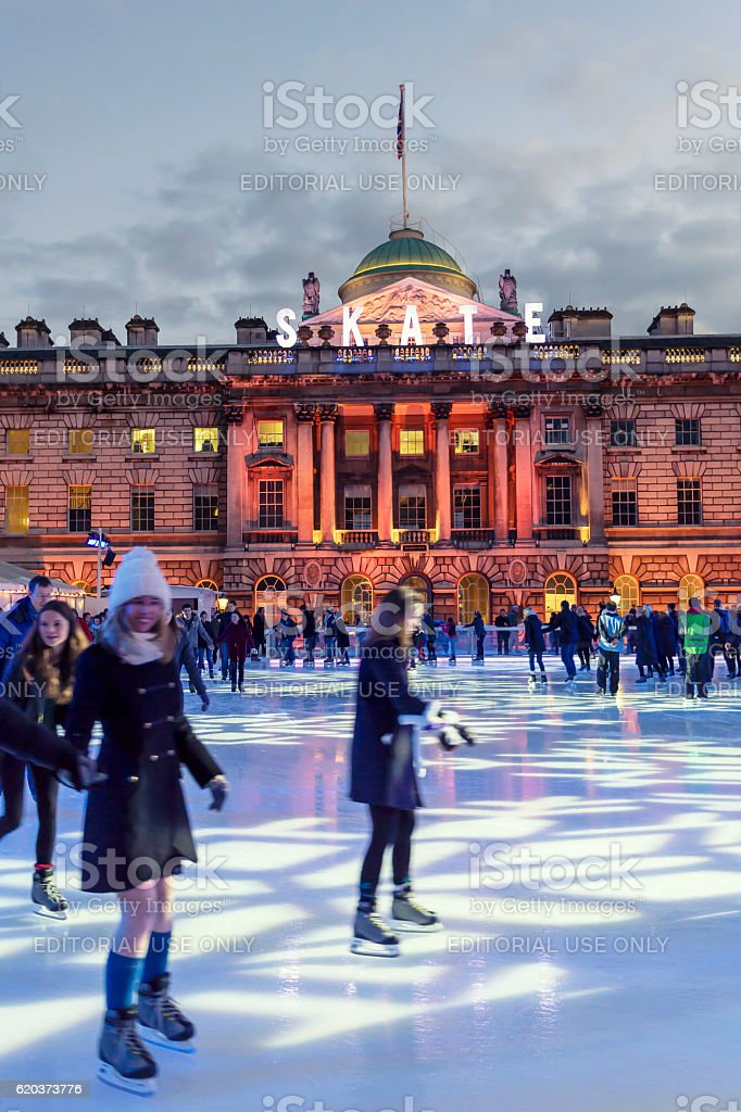 Skate at the Somerset House in London foto de stock royalty-free
