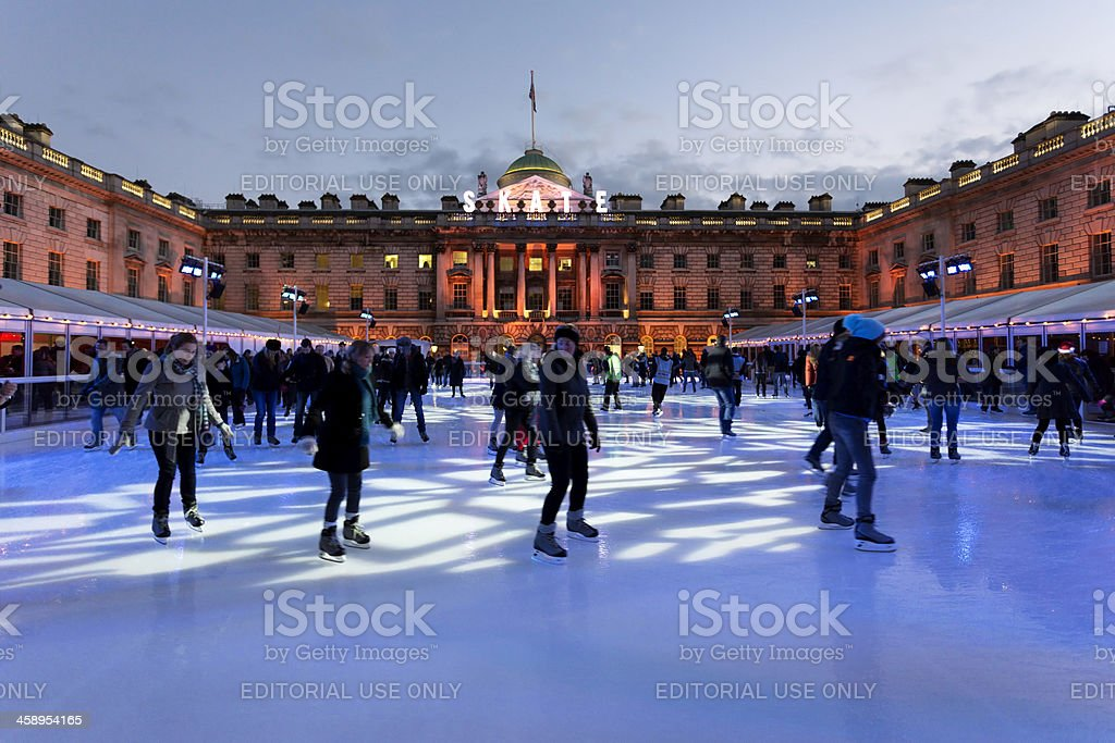 Skate at the Somerset House stock photo