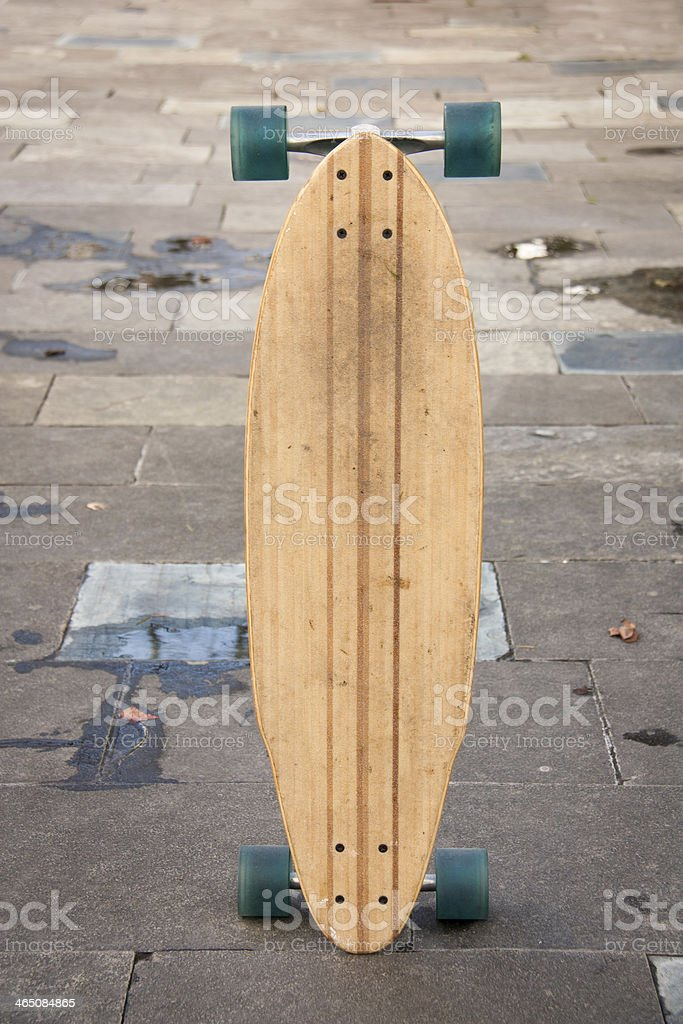 Skate board standing on the ground royalty-free stock photo