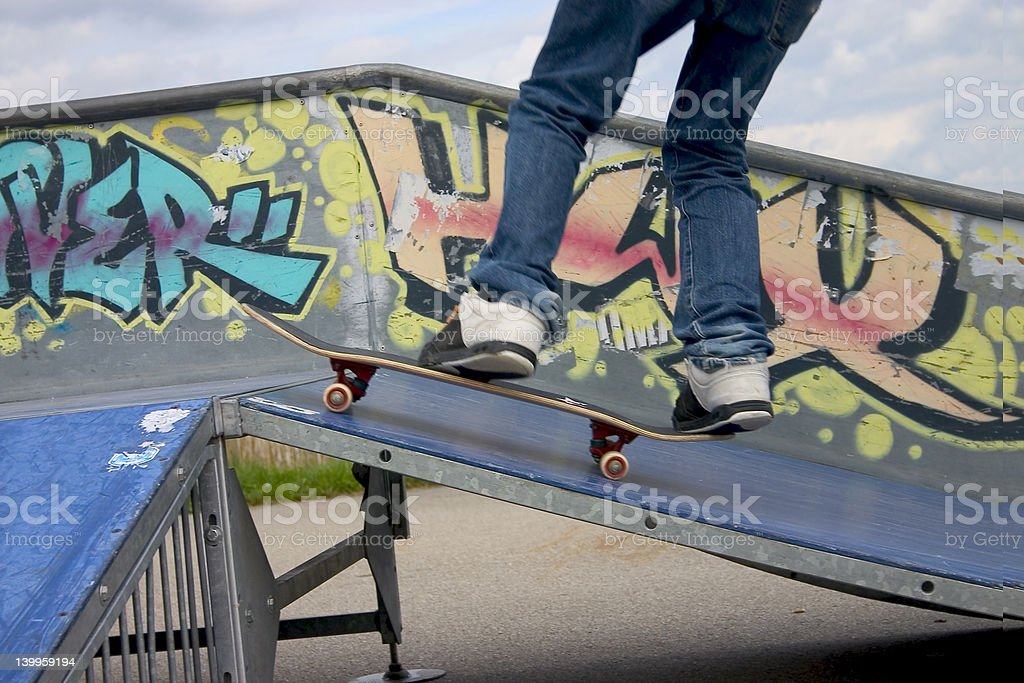 Skate boarding royalty-free stock photo