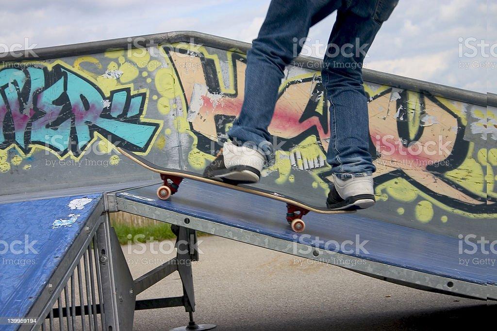 Skate boarding stock photo