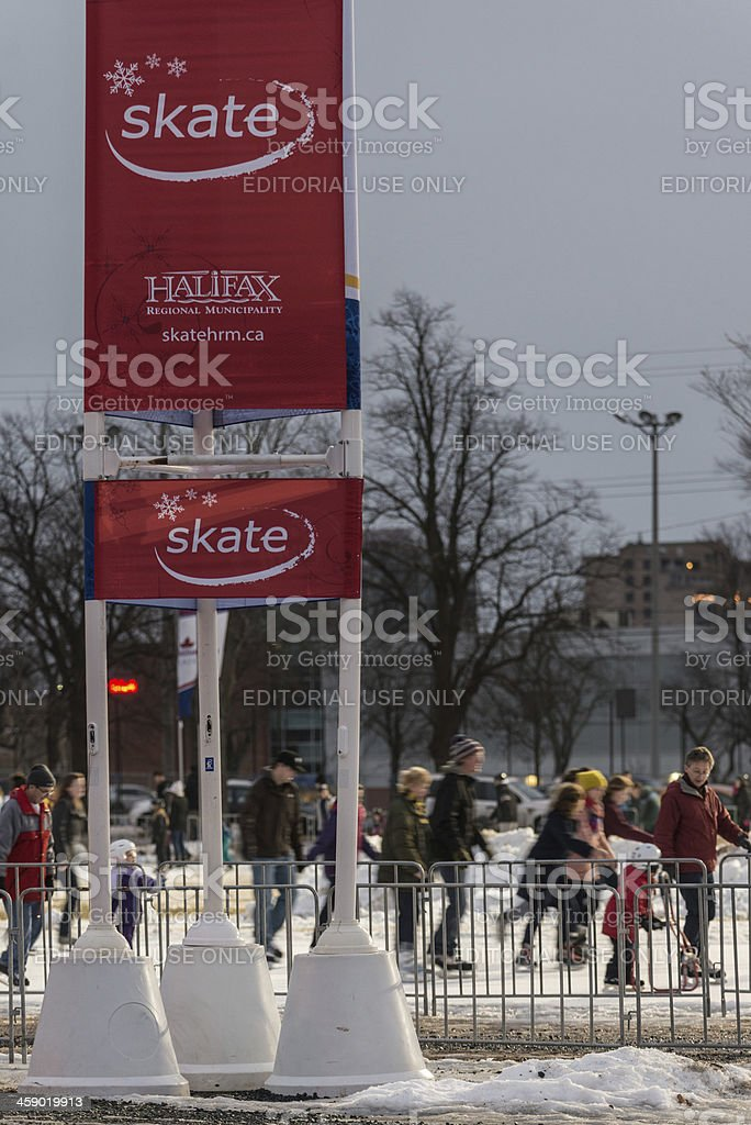 Skate in Halifax royalty-free stock photo
