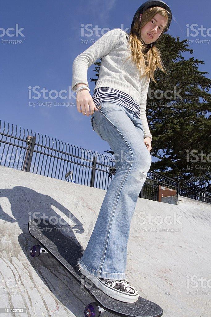Skate Park Girl royalty-free stock photo