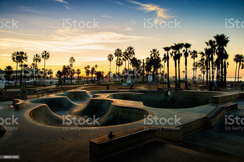 Skate park in USA stock photo