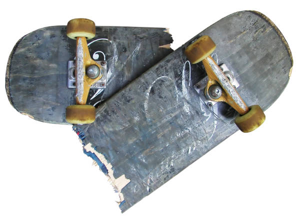 skateboard 2 stock photo