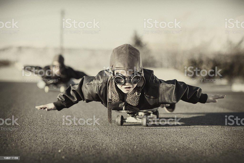 Skateboard Aviators stock photo