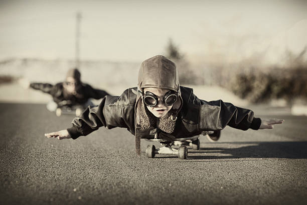 Skateboard Aviators stock photo