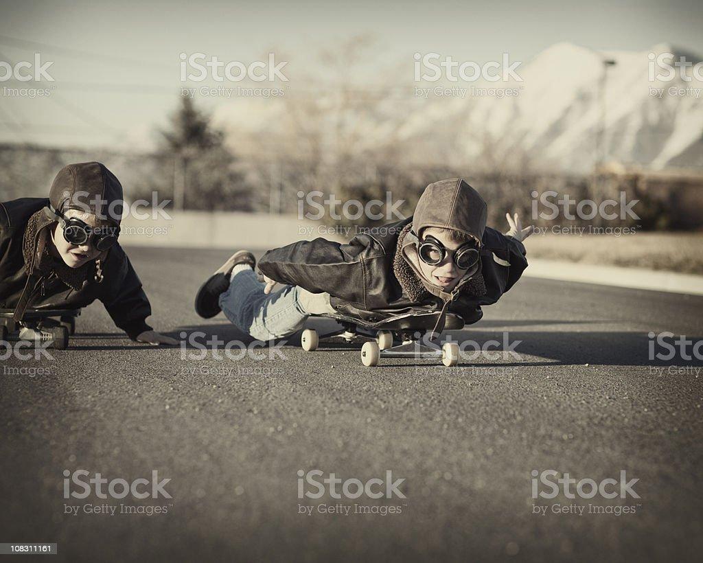 Skateboard Aviators royalty-free stock photo