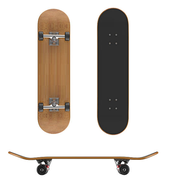 skateboard deck on a white background - skateboard bildbanksfoton och bilder