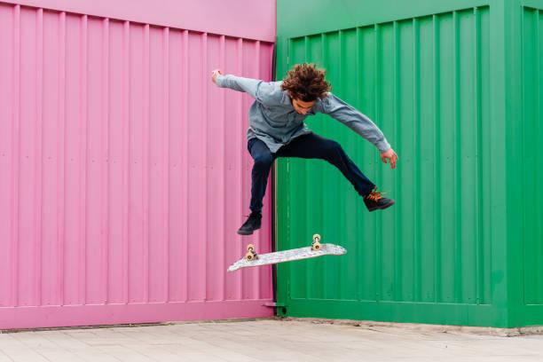 Skateboard everywhere stock photo