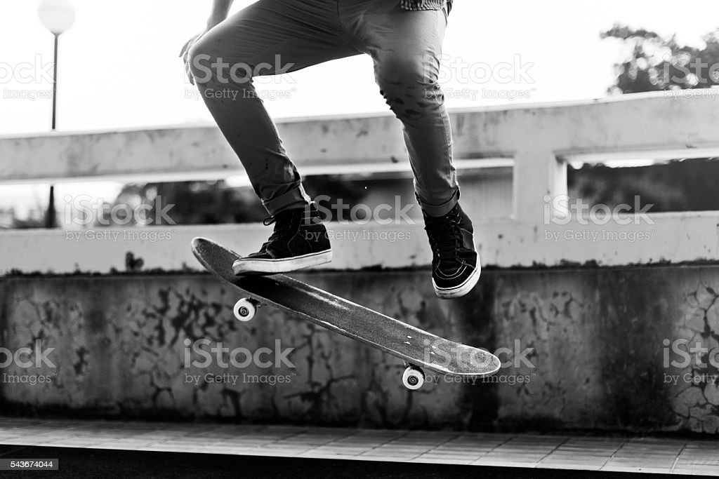 Skateboard Extreme Sport Skater Activity Concept stock photo