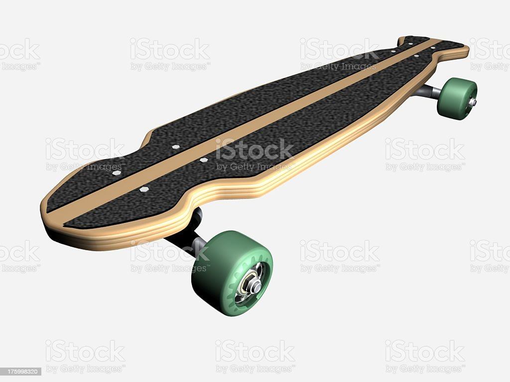 skateboard-longboard - Lizenzfrei Eislauf oder Rollschuhlauf Stock-Foto