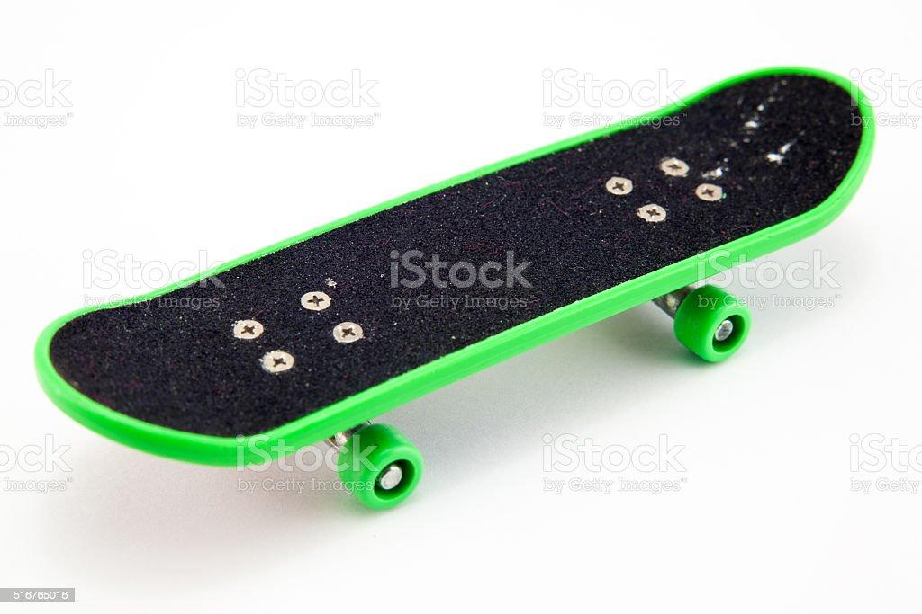 skateboard on a white background stock photo