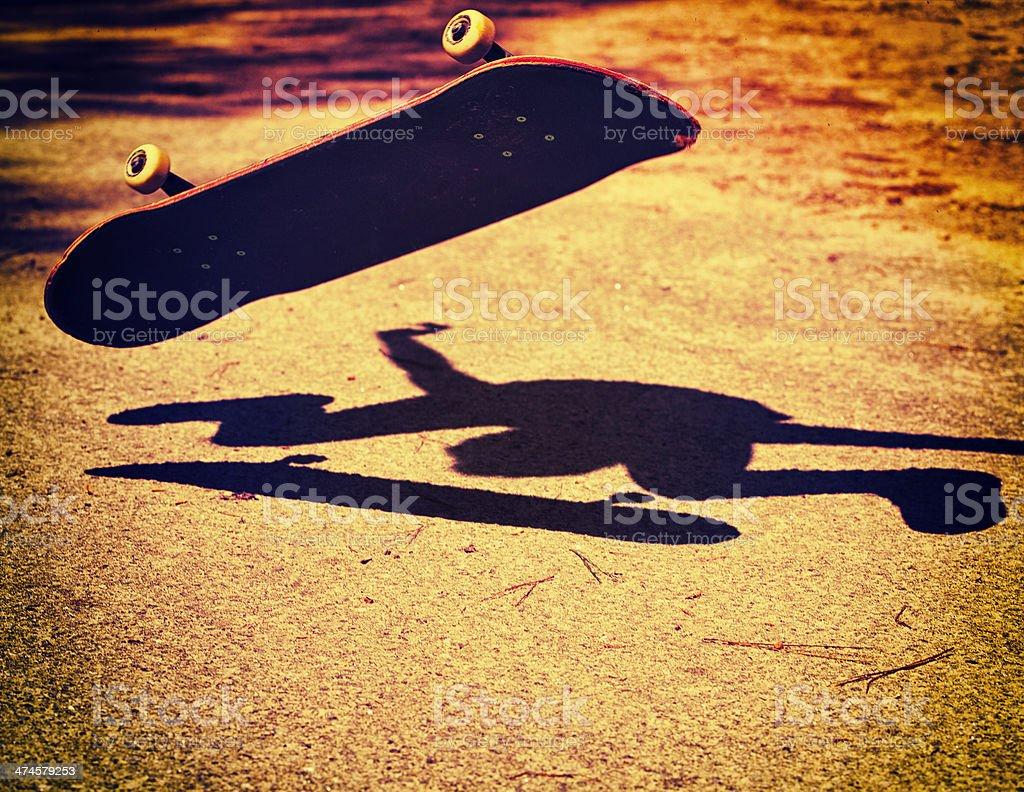 Skateboard Silhouette stock photo