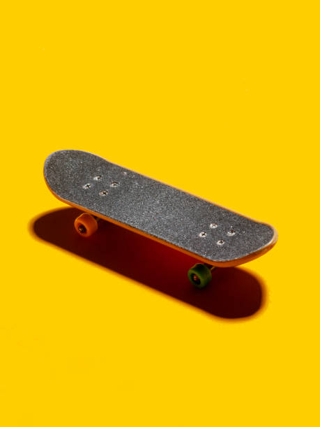 Skateboard, Skateboarding, Colored Background, Cut Out stock photo