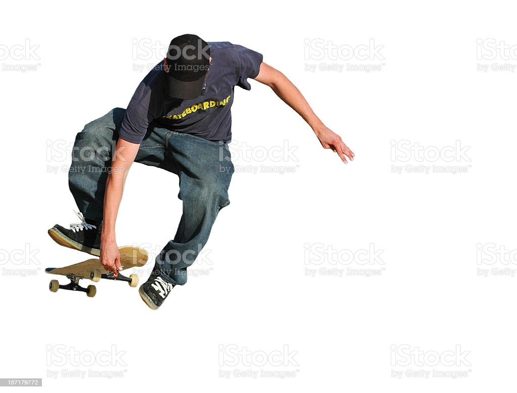 Skateboarder Airborne royalty-free stock photo