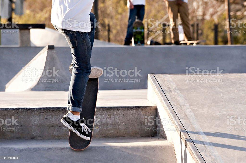 Skateboarder doing trick royalty-free stock photo