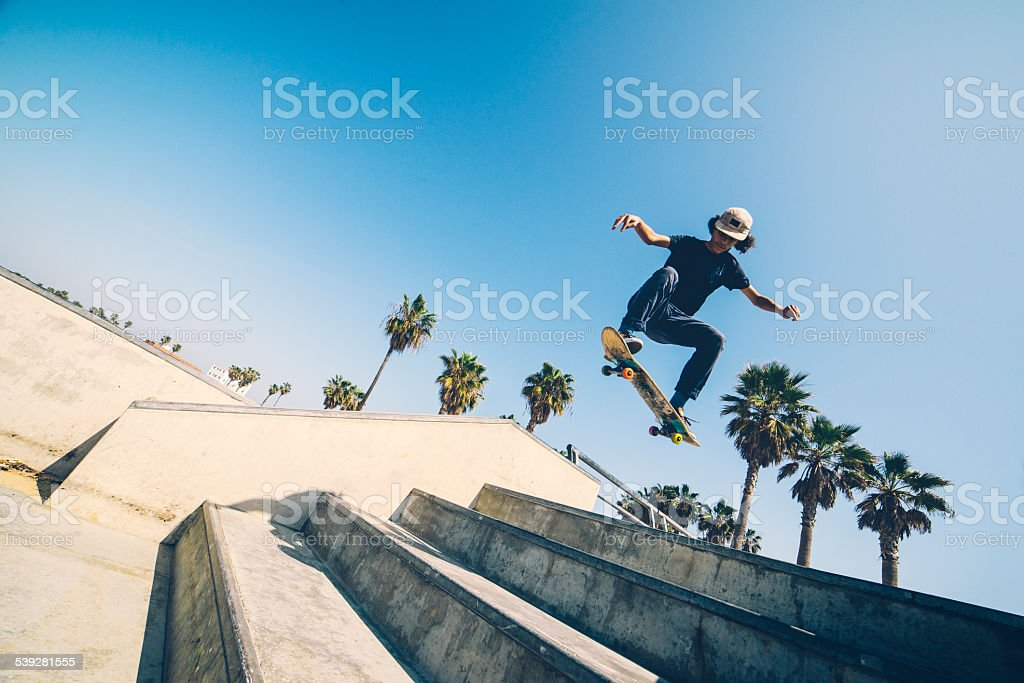 L.A skateboarder stock photo