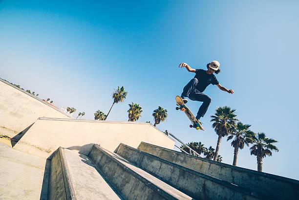 L.A skateboarder stock photo