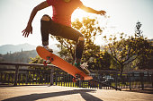 istock Skateboarder skateboarding on skate park 1192011131