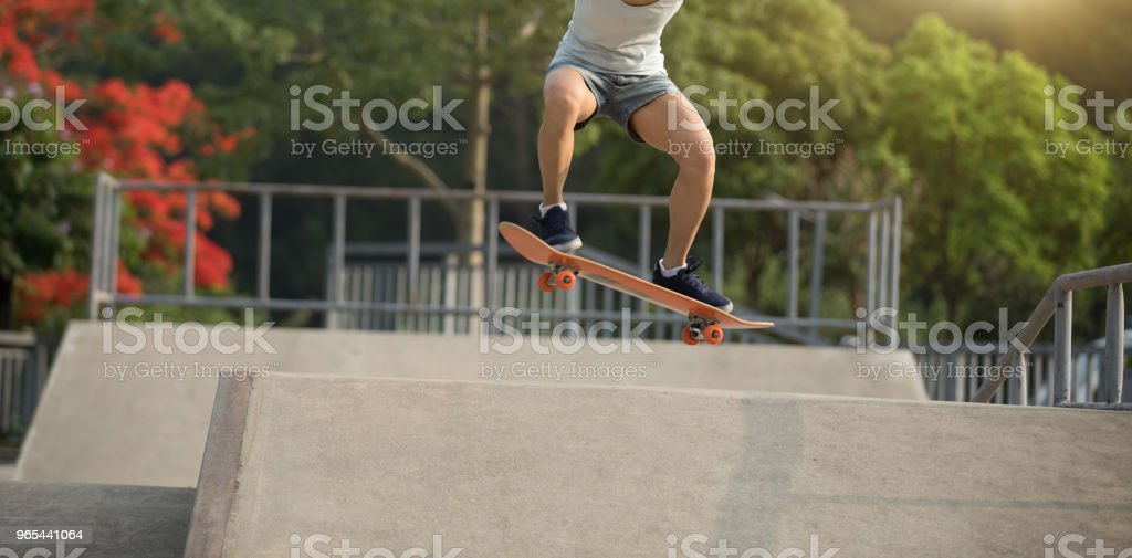 skateboarder skateboarding on skatepark ramp royalty-free stock photo
