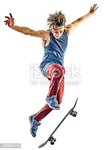 istock skateboarder young teenager man isolated 639384724