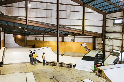 Skateboarders at Skatepark