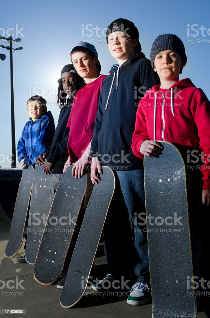 Skateboarders royalty-free stock photo