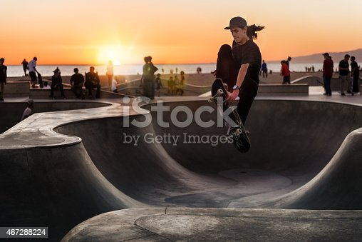 Skateboarding at Sunset