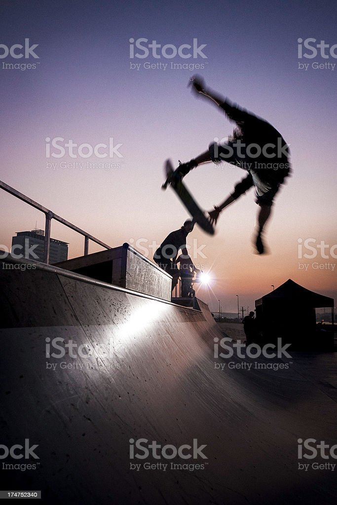 skateboarding contest stock photo