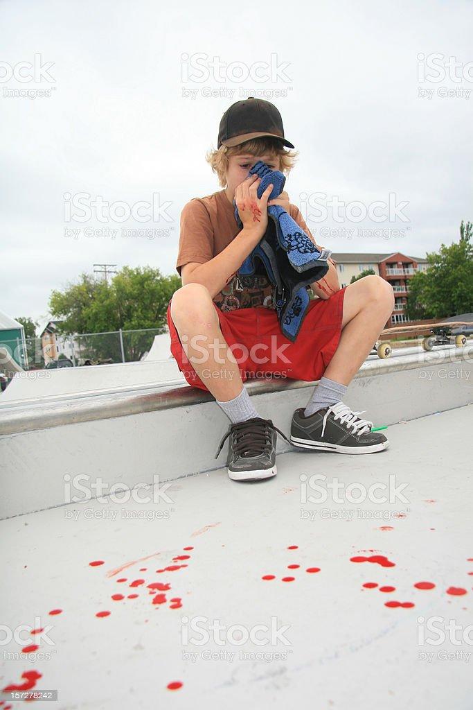 Skateboarding Crash stock photo