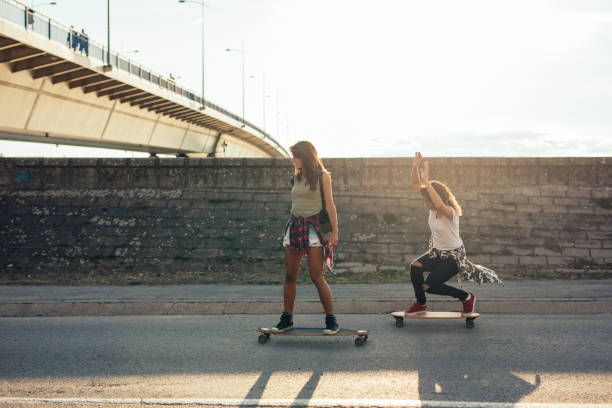 skateboarding is awesome! - skateboard stock pictures, royalty-free photos & images