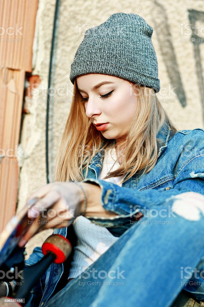 skateboarding is my lifestyle royalty-free stock photo