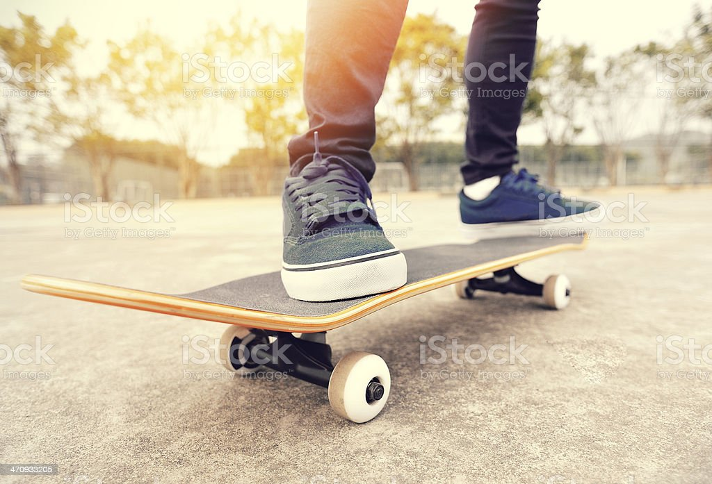 skateboarding stock photo