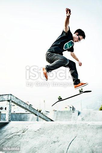 92451800 istock photo Skateboarding 482648553