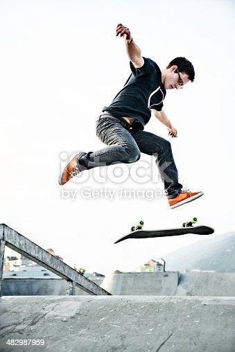 istock Skateboarding 482987959