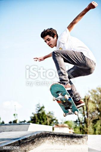 92451800 istock photo skateboarding 483822805