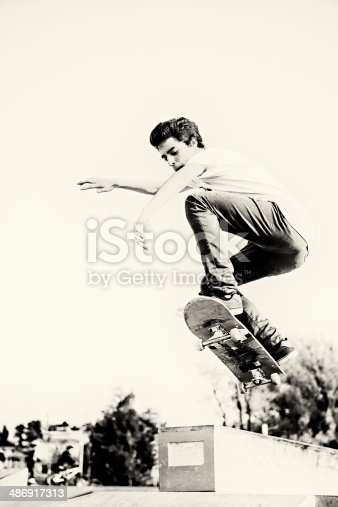 istock Skateboarding 486917313