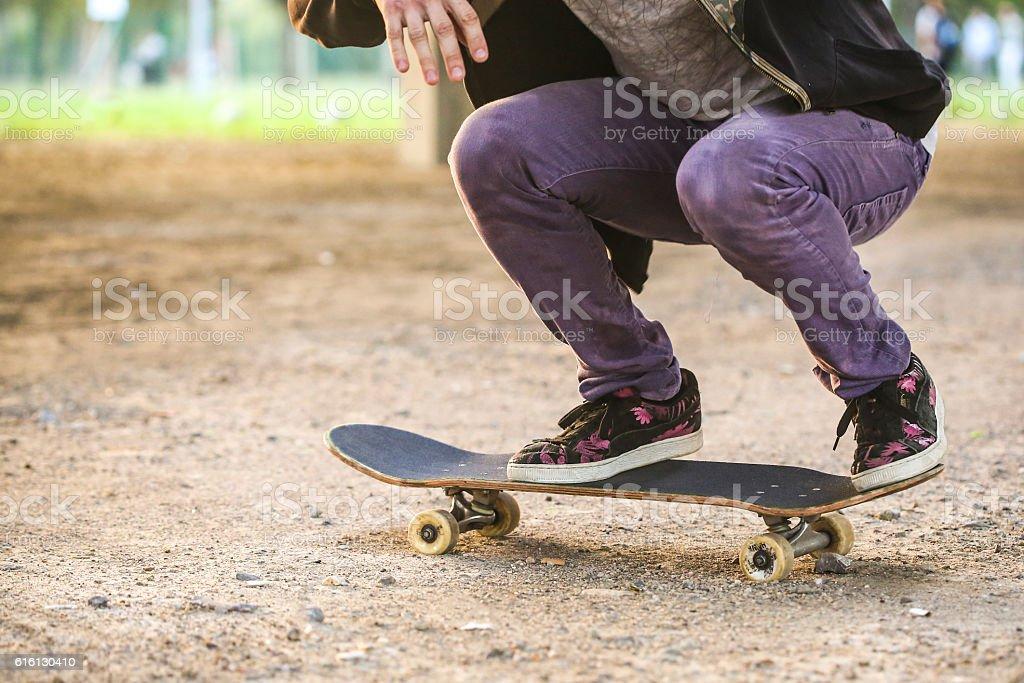 Skateboarding - foto de acervo